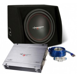 Kit amplificator 2 canale + subwoofer 1000W + cabluri