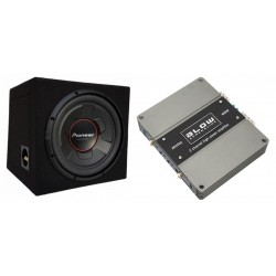 Kit subwoofer auto 350W Pioneer + amplificator auto 150W Blow
