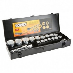 """Tubulare in set 3/4"""" 20 buc set Topex 38d296"""