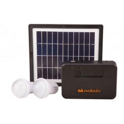 Kit Iluminare LED cu Incarcare Solara 2 Becuri si Port USB P1x2 W Pp 4 WEvotools 678879