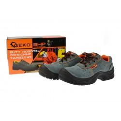 Bocanci de protectie pentru lucru din piele, marimea 41, Geko G90521