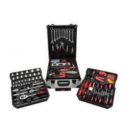 Set de unelte cu chei combinate 187buc carcasa din aluminiu GEKO G10855