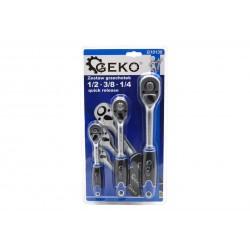 Set chei cu clichet 1/2 3/8 1/2 Geko G10136