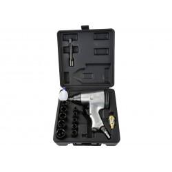 "Pistol pneumatic de impact 1/2""+ accesorii, Geko G00580"