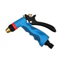 Pistol de stropit jet ajustabil, albastru, duza alama Geko, G73000