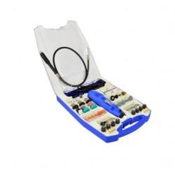 Mini polizor drept set cablu & 227 accesorii, Geko, 270 W, 88 dB G81220