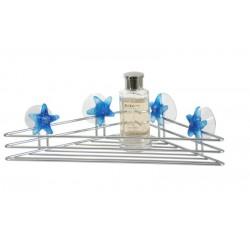 Etajera cromata simpla pentru baie cu prindere fara gaururi -cu ventuze AWD02080212
