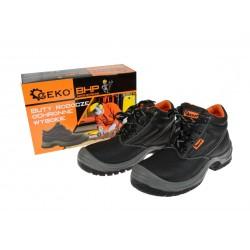 Bocanci de protectie pentru lucru din piele, marimea 41, Geko G90511