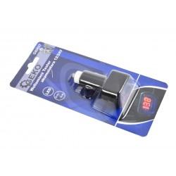 Tester voltmetru baterie 12/24V, Geko, G80027